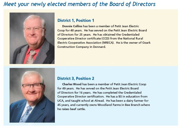 Meet your new board members